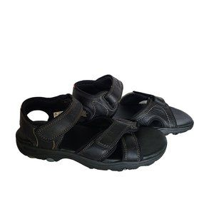 TIMBERLAND Black Leather Sandals 8
